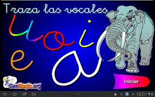 Screenshot of Traza las vocales