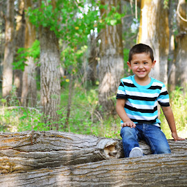 Smile. by Kallie Snyder - Babies & Children Children Candids ( idaho, trees, summer, bou, kids,  )
