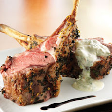 Oregano Rack Of Lamb With Yogurt Sauce & Reduced Balsamic Vinegar