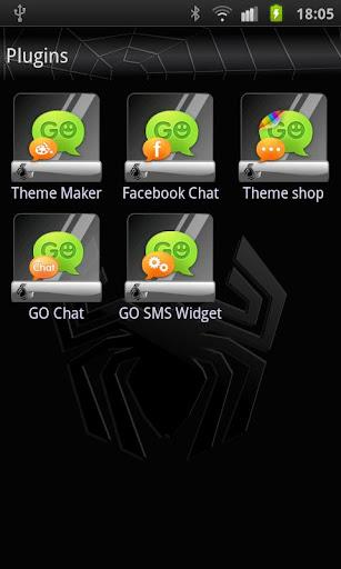 GO SMS Black Spider Theme