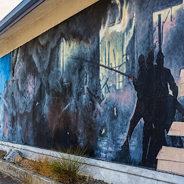 Mural by Vibeke Friis - Buildings & Architecture Other Exteriors ( firestation, mural,  )