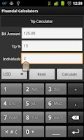 Screenshot of Financial Calculators Lite