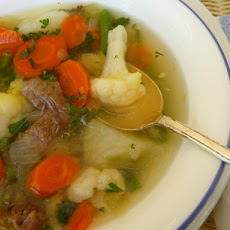 Mom's Vegetable Soup With Chicken or Beef(German Gemuse Suppe)