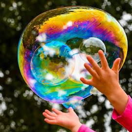 Bubble Fun by Karina Cove - Artistic Objects Other Objects ( ready to pop, outdoor, bubbles, colours )