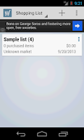 Screenshot of Ares Shopping List Free