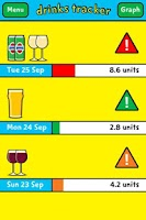 Screenshot of Change4Life drinks tracker