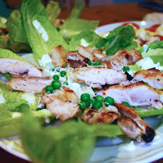 Greek Yoghurt Caesar Marinade Dressing With Grilled Chicken And Peas
