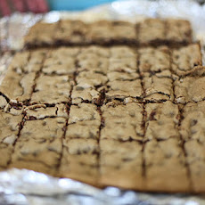 Gluten Free Chocolate Chip Toffee Bits Cookie Bars (Congo Bars)