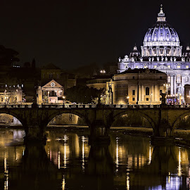 San Peter Christmas by Daniele Kook - Buildings & Architecture Other Exteriors ( landscape night nightphotography city rome best love beautifull nikon canon )