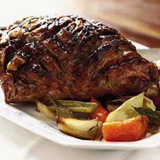 Roast Spring Lamb With Rosé Wine & Oranges