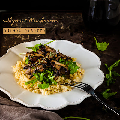 Thyme and Mushroom Quinoa Risotto {gluten free and vegan}