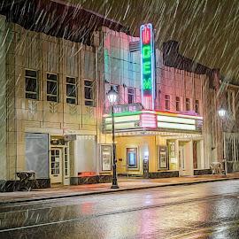 Snowy GEM by RomanDA Photography - City,  Street & Park  Street Scenes ( winter, snow, night, long exposure, storm, ktown )