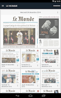 Screenshot of Journal Le Monde