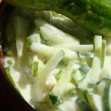 Cucumber Salad With Yogurt (Middle East, Palestine)