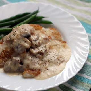 Fish in Mushroom Cream Sauce