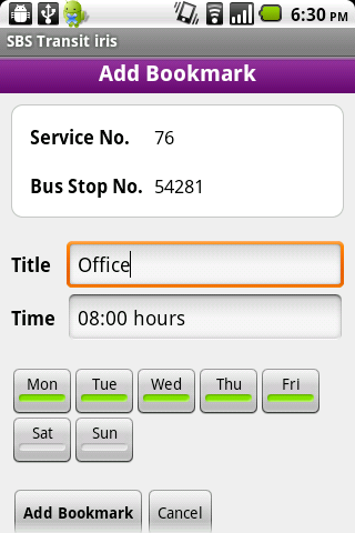 sbs-transit-iris for android screenshot