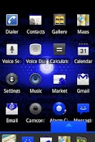 Screenshot of Blue Droid Dxtop Theme