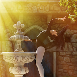 Beauty within by Ramona Ilie - People Fashion ( fashion, ballerina, ballet, light, dance, commercial photography )