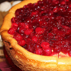 Low-Fat Cranberry Pumpkin Cheesecake