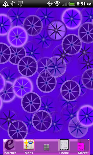 Crazy Home Circles Purples