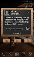 Screenshot of GO SMS Pro BlackBoard PopupThe