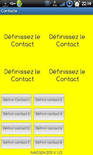 Raccourci Contacts