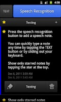 Screenshot of ListNote Speech/Text Notepad