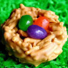 Easter Nests With Jelly Bean Eggs