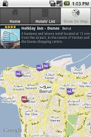 Screenshot of Hotels in Beirut Lebanon