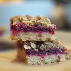 Cranberry Walnut Streusel Bars