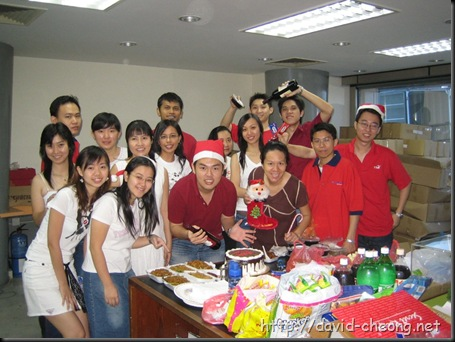 Christmas party at mobile88 office