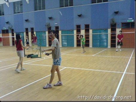 Badminton session
