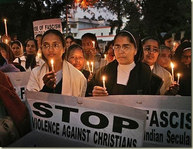 Indian churches protest