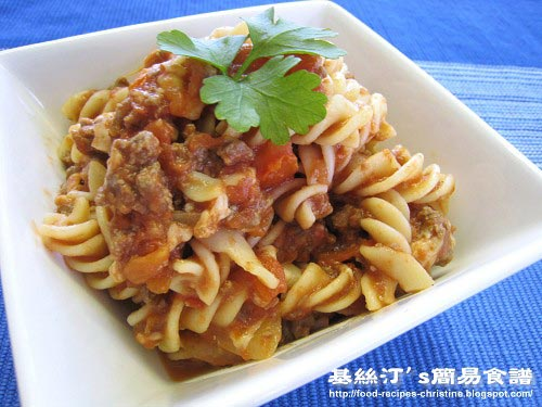 茄醬牛肉意大利粉 Ground Beef and Tomato Pasta