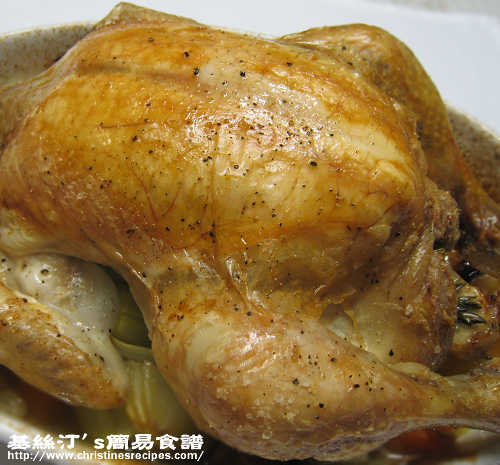 檸檬香草焗雞 Roast Chicken with Lemon and Rosemary01