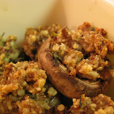 Tofu and Walnut Stuffed Mushrooms
