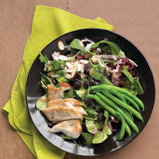 Seared-Chicken Salad with Green Beans, Almonds, and Dried Cherries