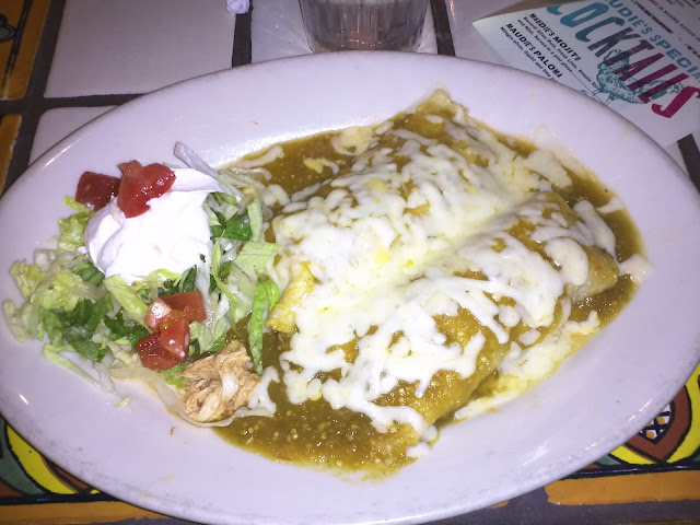 Chicken tomatillo enchiladas