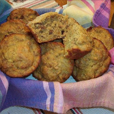 Banana-Orange Bran Muffins With Pecans and Raisins