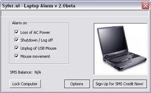 Laptop-Alarm