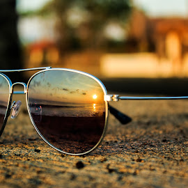 sunrise in my glasses by 'Budi Kaos Hitam - Artistic Objects Other Objects