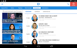 Screenshot of Europe 1
