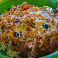 Italian Three-Bean and Rice Skillet