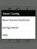 Screenshot of FastClock