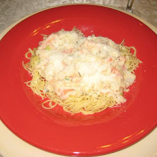 Crabby Cheese Angel Hair Pasta