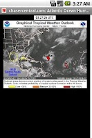 Screenshot of Storm Chaser Hurricane Outlook