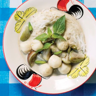 Andy Ricker's Kaeng Khiaw Waan Luuk Chin Plaa (Green Curry With Fish Balls and Eggplant) From 'Pok Pok'