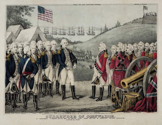 "Five days later, on October 19, 1781, the <a href=""http://www.gilderlehrman.org/history-by-era/war-for-independence/resources/surrender-british-general-cornwallis-americans-october"">British surrendered</a> at Yorktown, effectively ending the war."