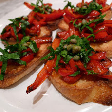 Cook the Book: Roasted Pepper and Celery Leaf Crostini