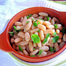 Warm Cannellini Bean Salad - pressure cooker